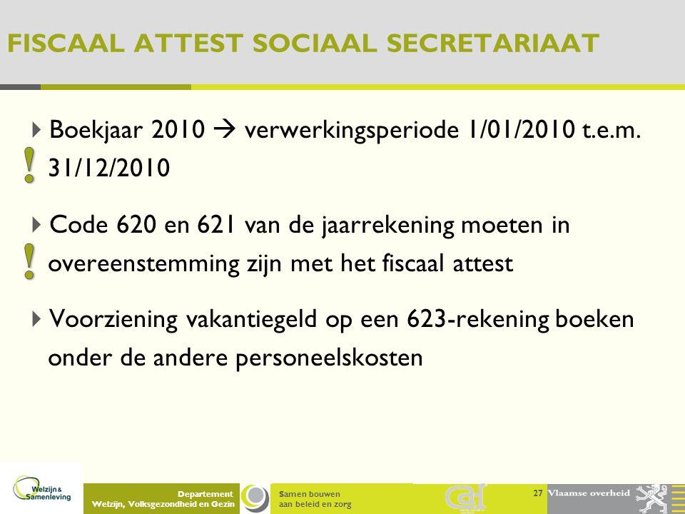 FISCAAL ATTEST SOCIAAL SECRETARIAAT
