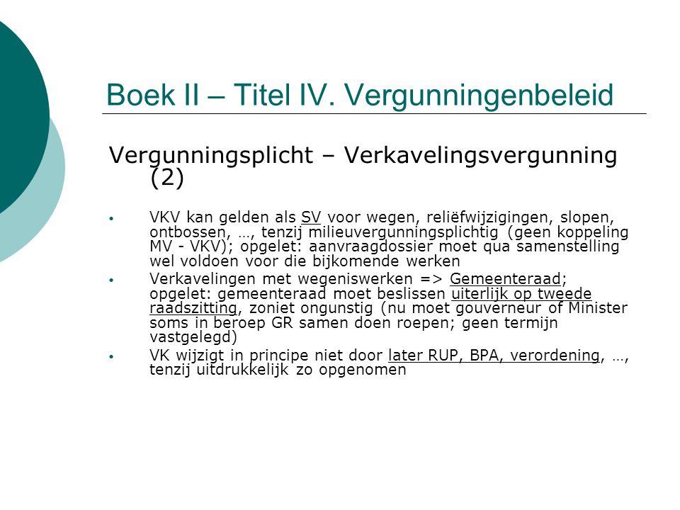 Boek II – Titel IV. Vergunningenbeleid