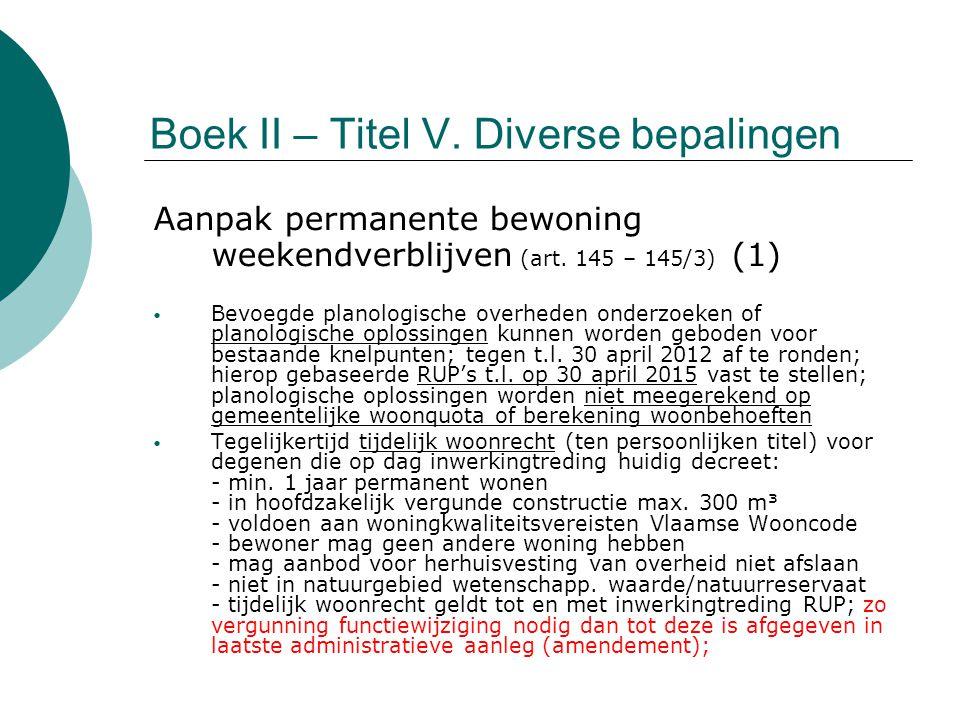 Boek II – Titel V. Diverse bepalingen