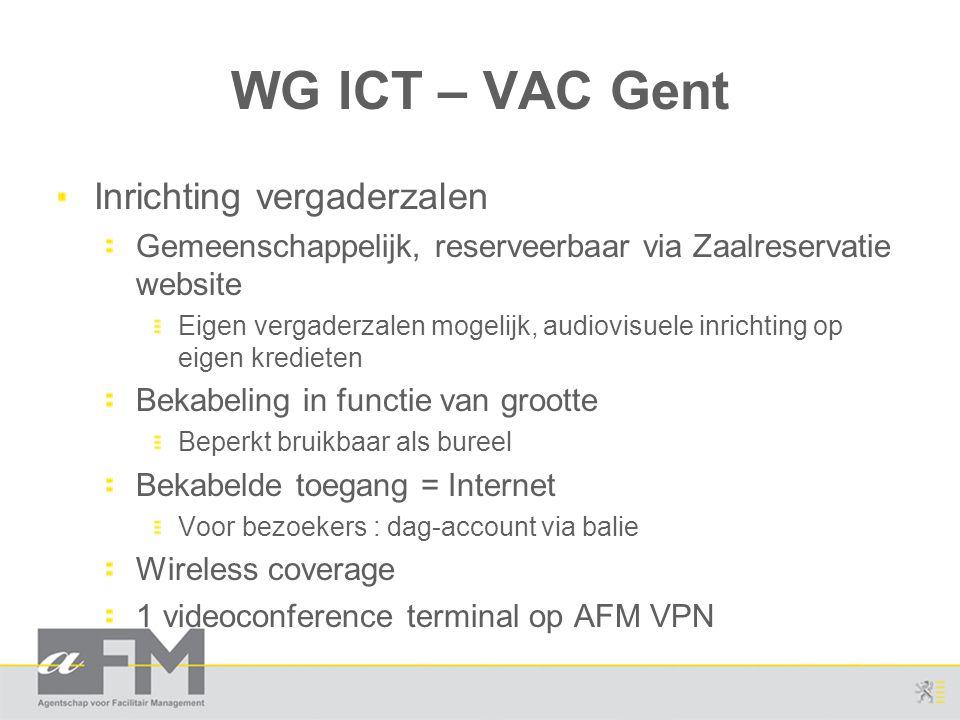WG ICT – VAC Gent Inrichting vergaderzalen