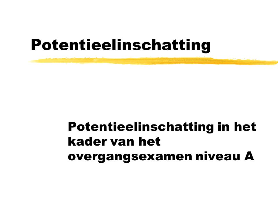 Potentieelinschatting