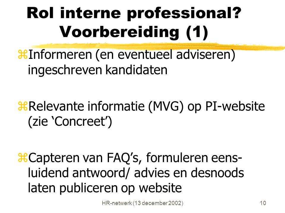 Rol interne professional Voorbereiding (1)