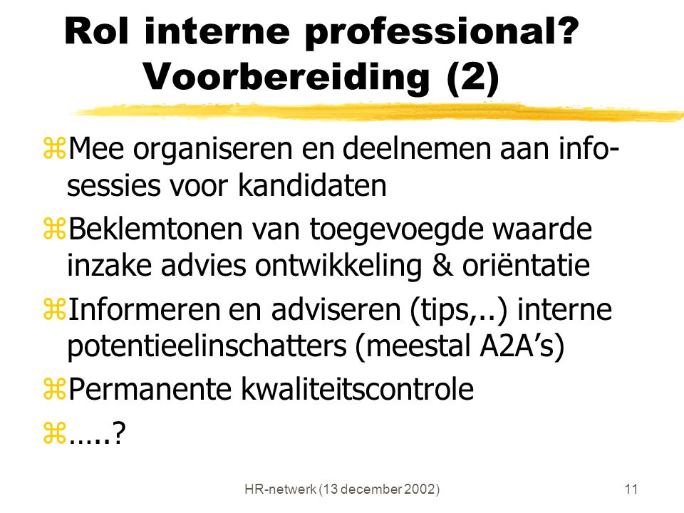 Rol interne professional Voorbereiding (2)