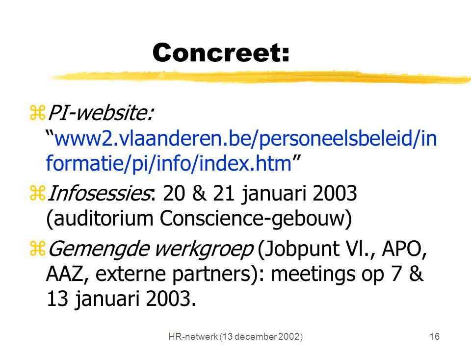 HR-netwerk (13 december 2002)