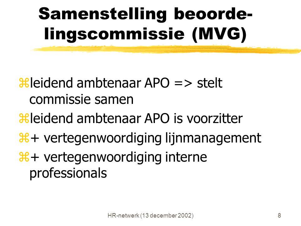 Samenstelling beoorde-lingscommissie (MVG)