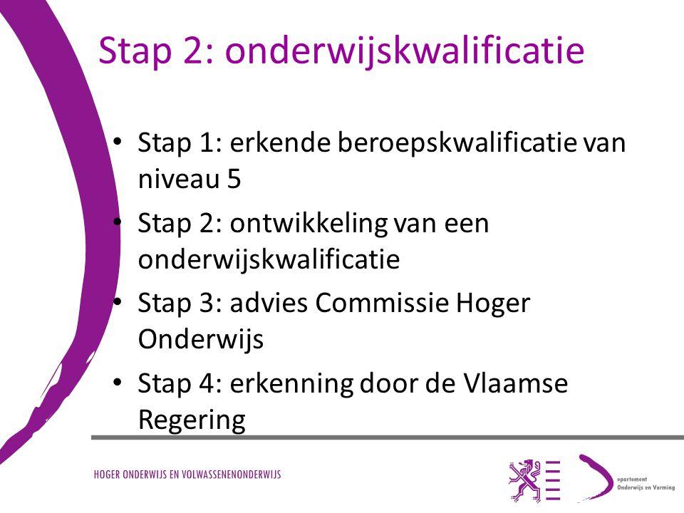 Stap 2: onderwijskwalificatie