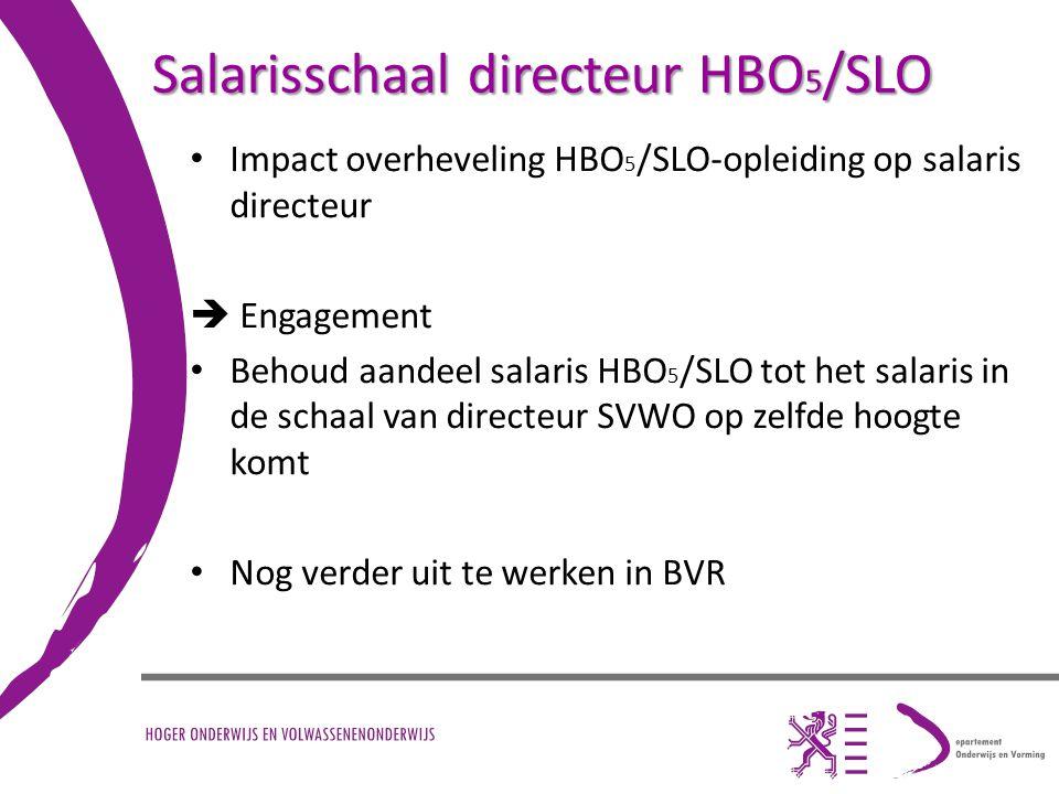 Salarisschaal directeur HBO5/SLO