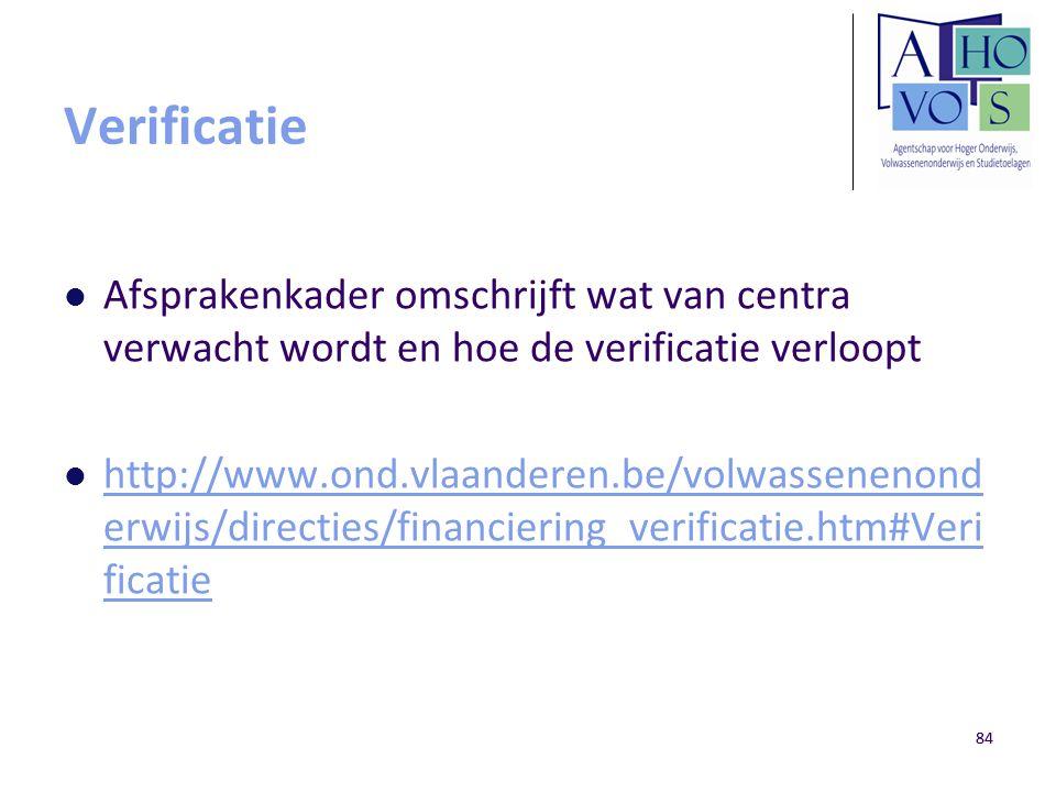 Verificatie Afsprakenkader omschrijft wat van centra verwacht wordt en hoe de verificatie verloopt.