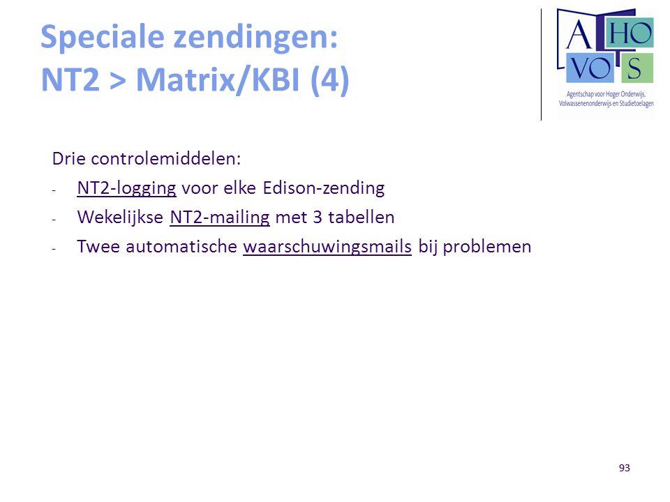 Speciale zendingen: NT2 > Matrix/KBI (4)