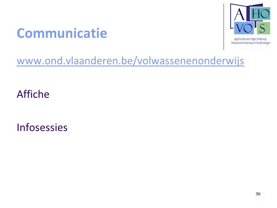 Communicatie www.ond.vlaanderen.be/volwassenenonderwijs Affiche