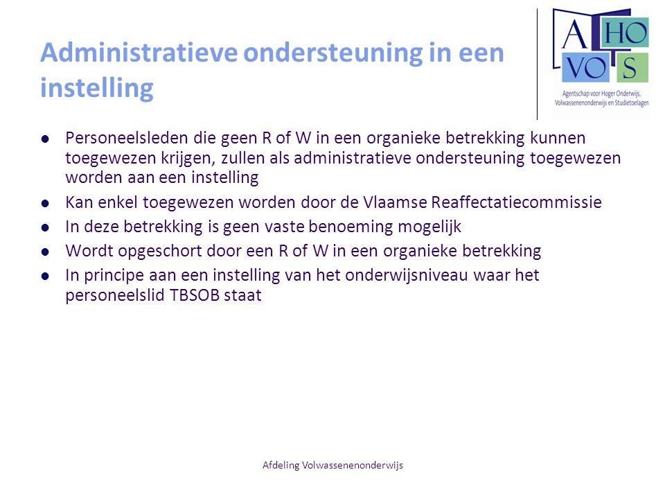 Administratieve ondersteuning in een instelling