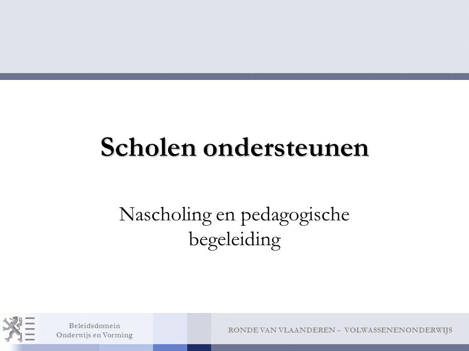 Nascholing en pedagogische begeleiding