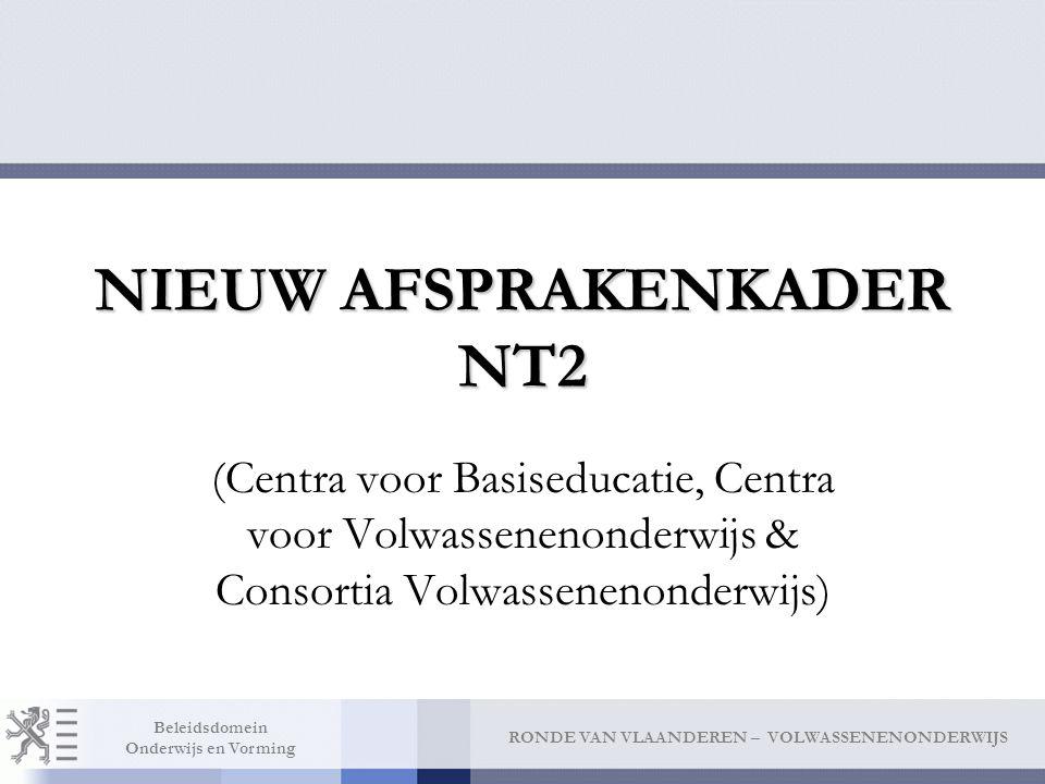 NIEUW AFSPRAKENKADER NT2