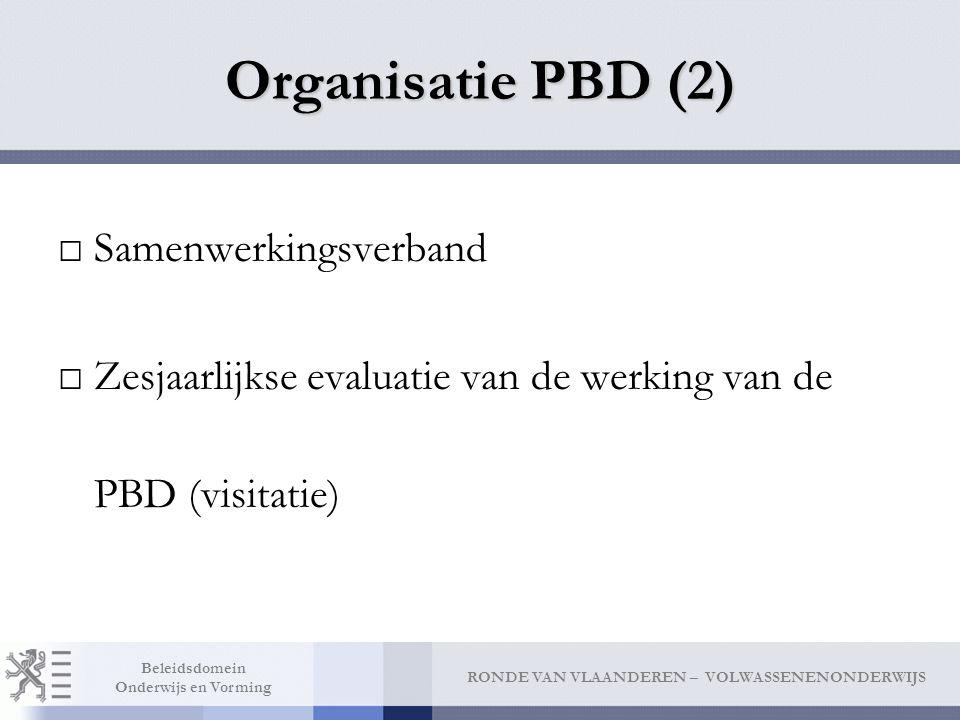 Organisatie PBD (2) Samenwerkingsverband