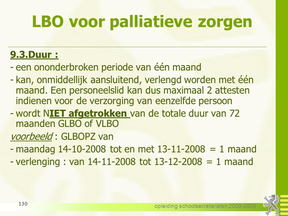 LBO voor palliatieve zorgen