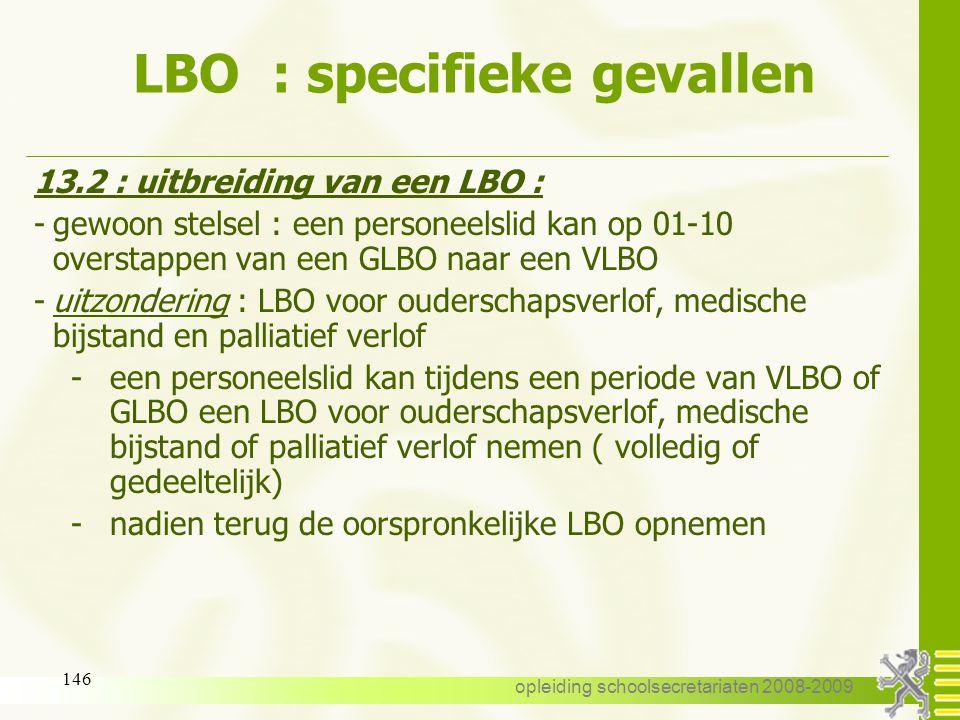 LBO : specifieke gevallen