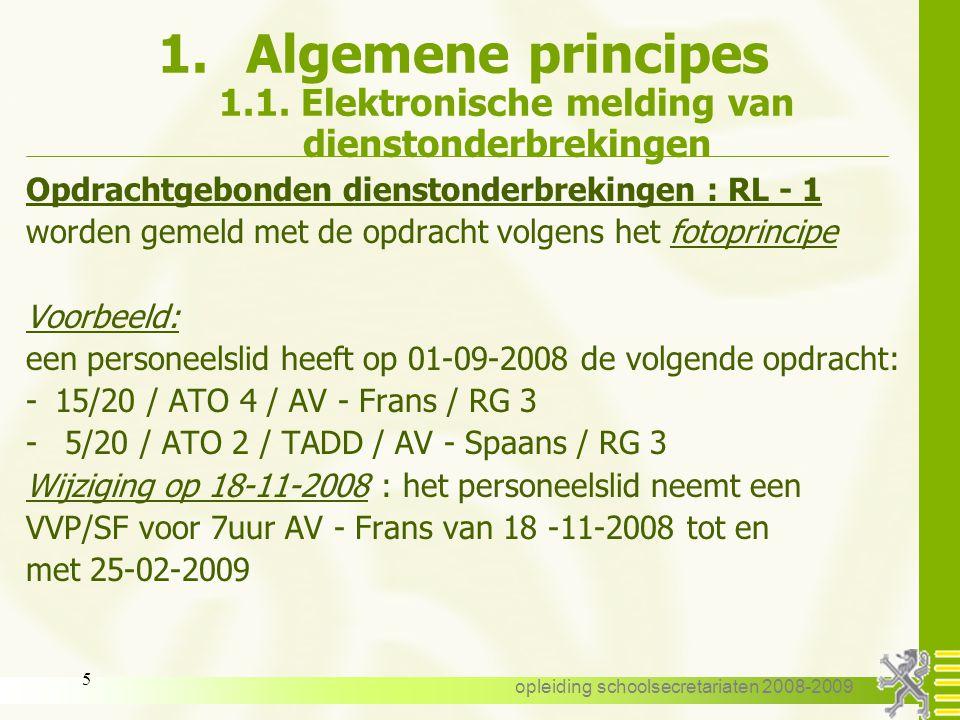 Algemene principes 1.1. Elektronische melding van dienstonderbrekingen