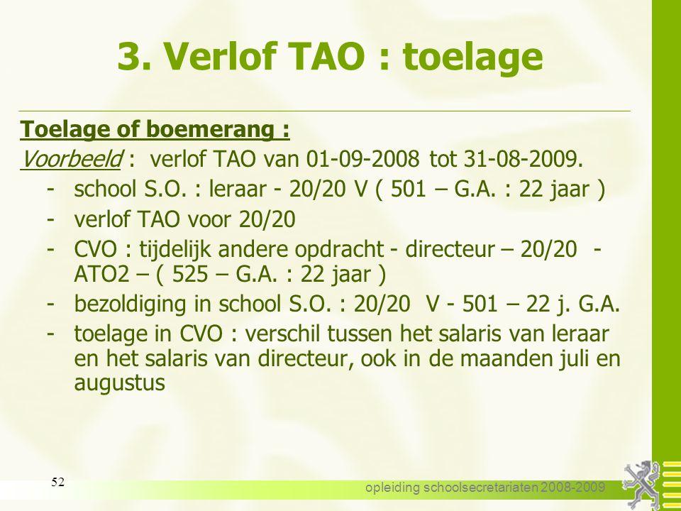 opleiding schoolsecretariaten 2008-2009