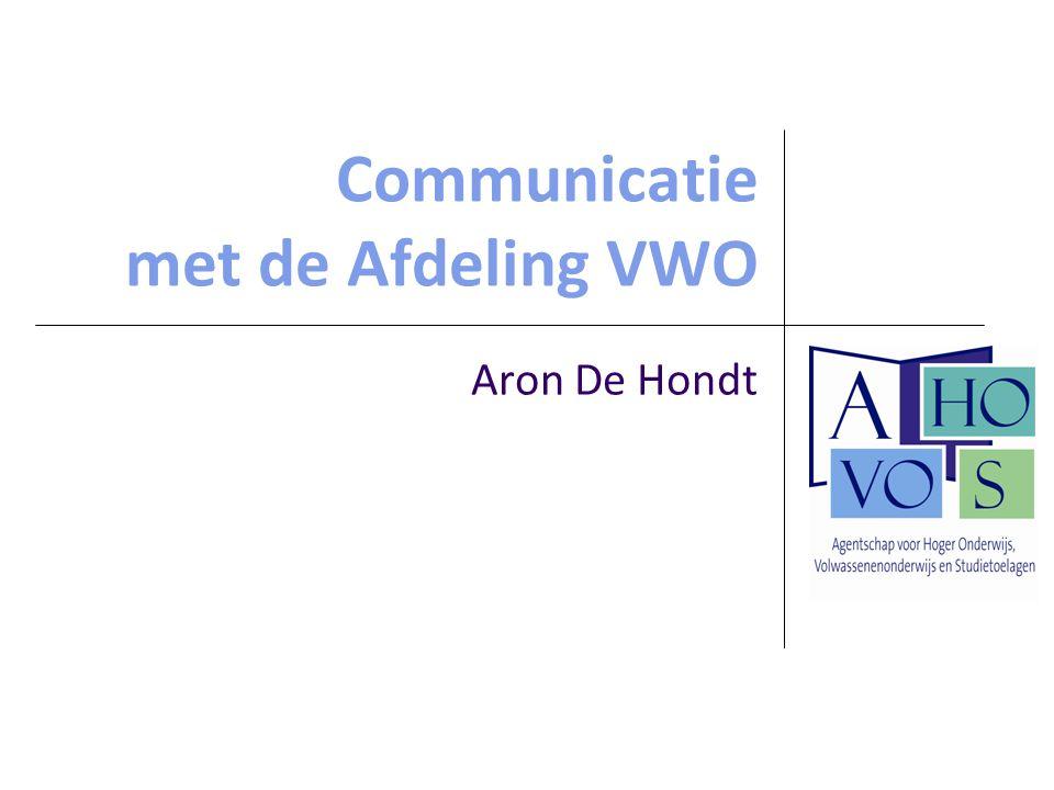 Communicatie met de Afdeling VWO
