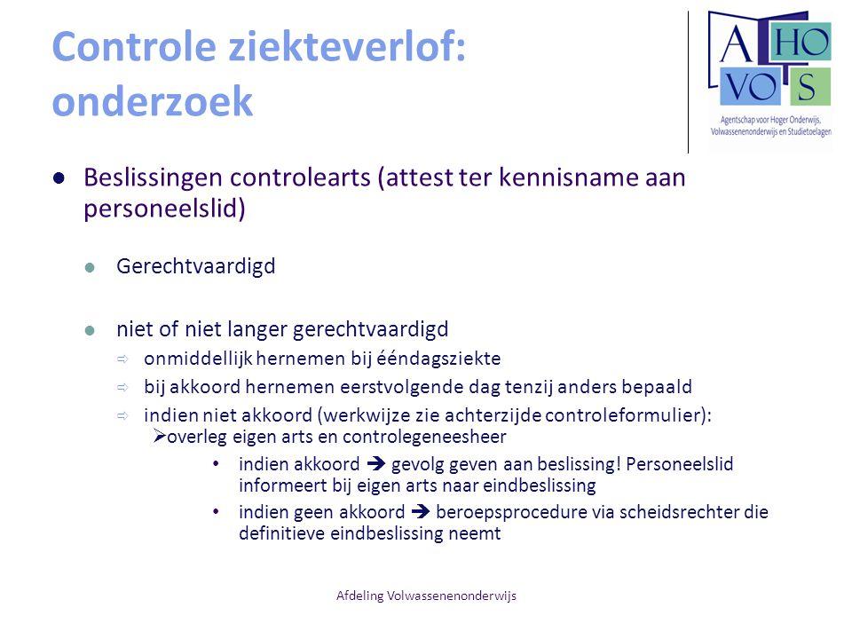 Controle ziekteverlof: onderzoek