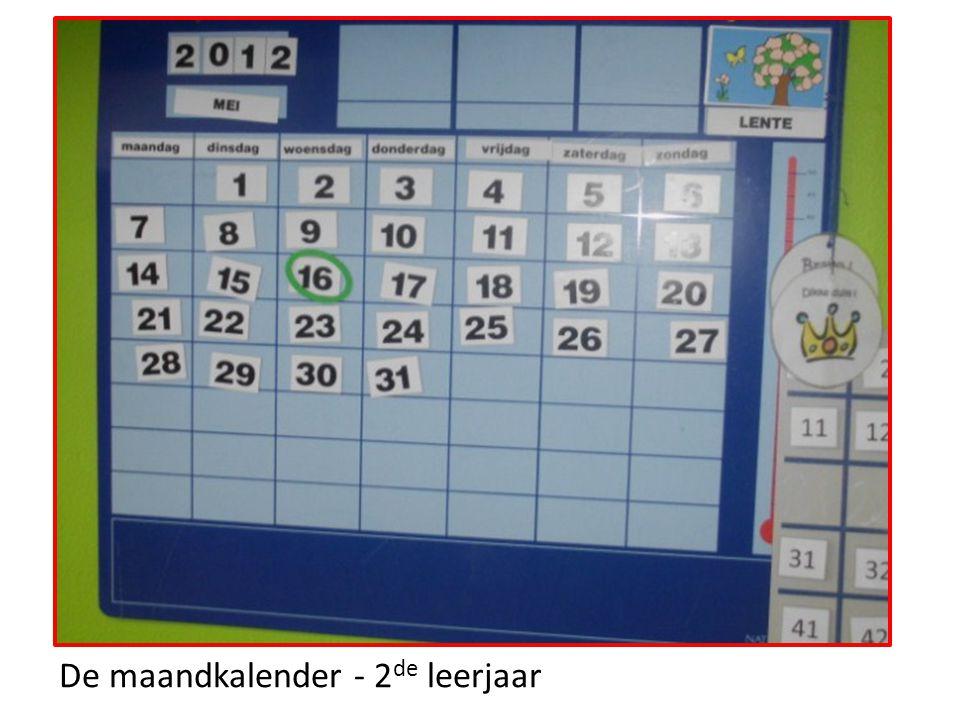 De maandkalender - 2de leerjaar