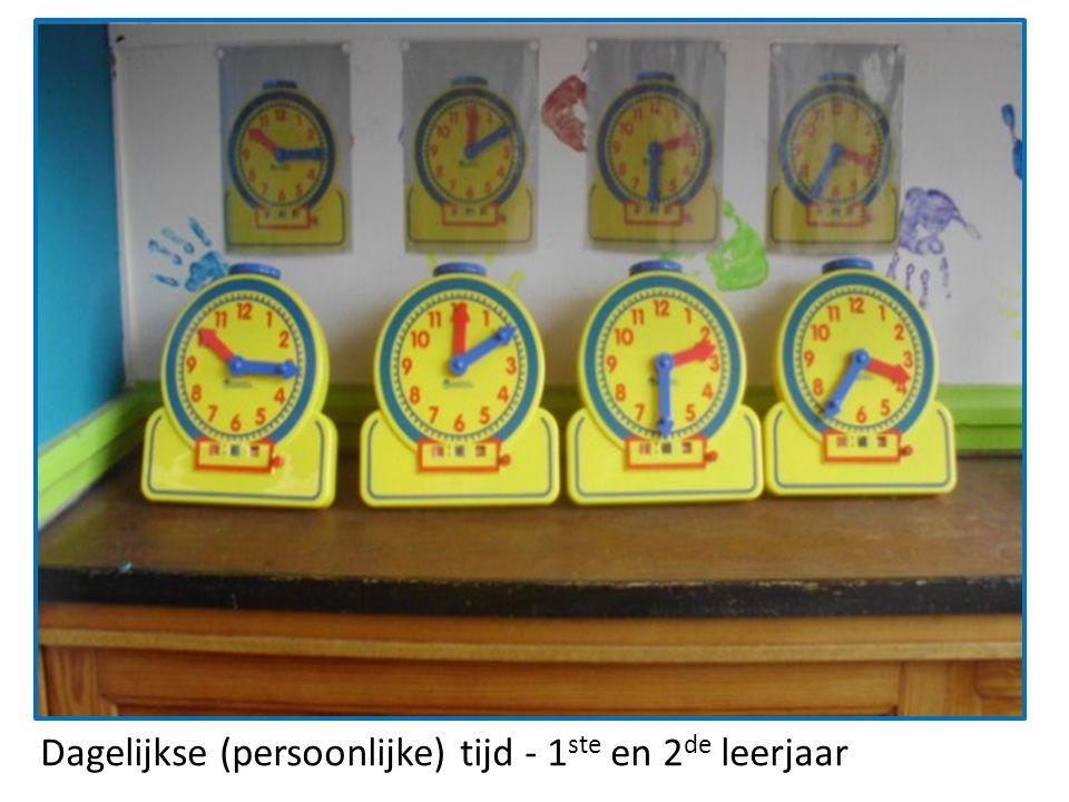 Dagelijkse (persoonlijke) tijd - 1ste en 2de leerjaar