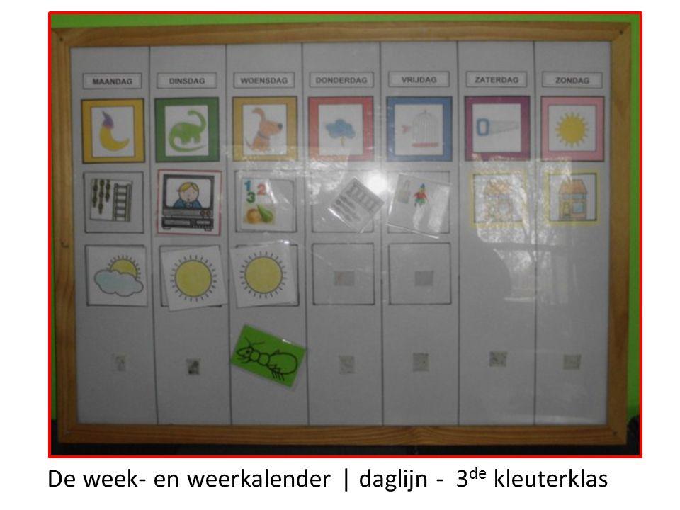 De week- en weerkalender | daglijn - 3de kleuterklas
