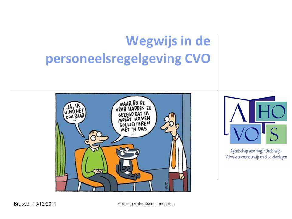 Wegwijs in de personeelsregelgeving CVO