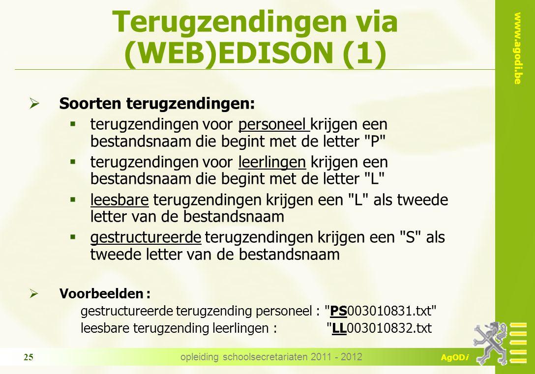 Terugzendingen via (WEB)EDISON (1)