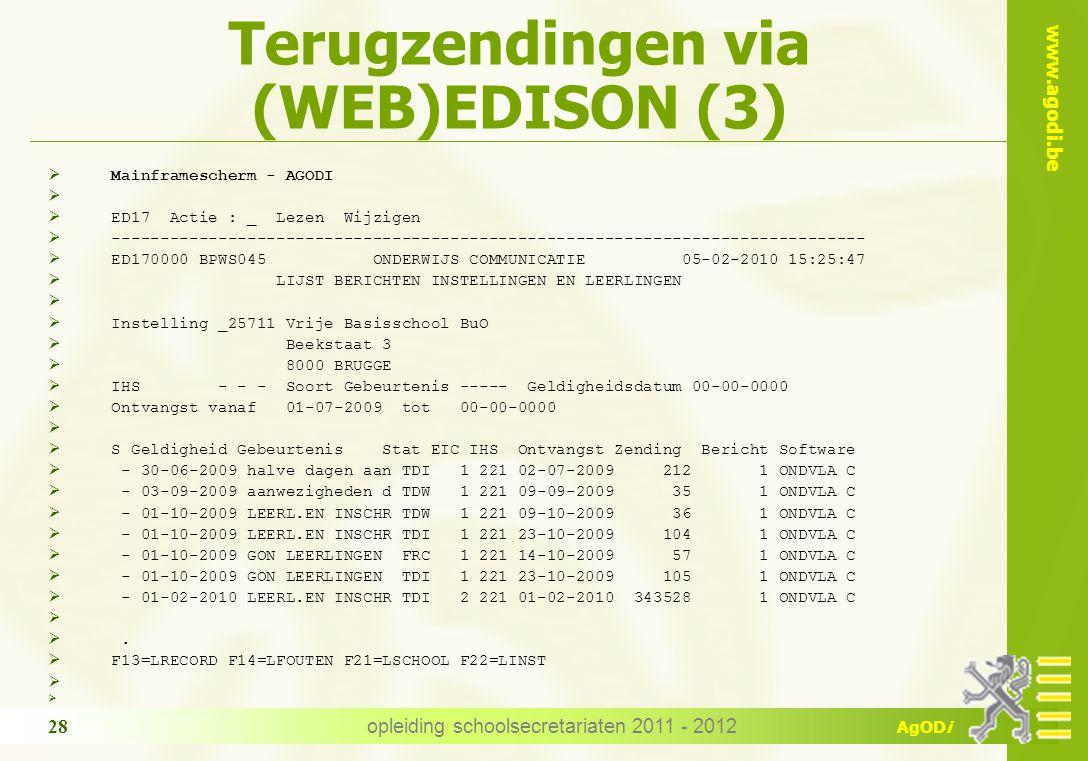 Terugzendingen via (WEB)EDISON (3)