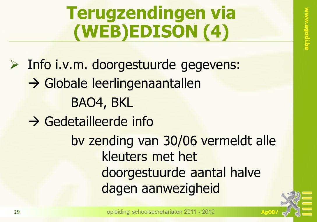Terugzendingen via (WEB)EDISON (4)