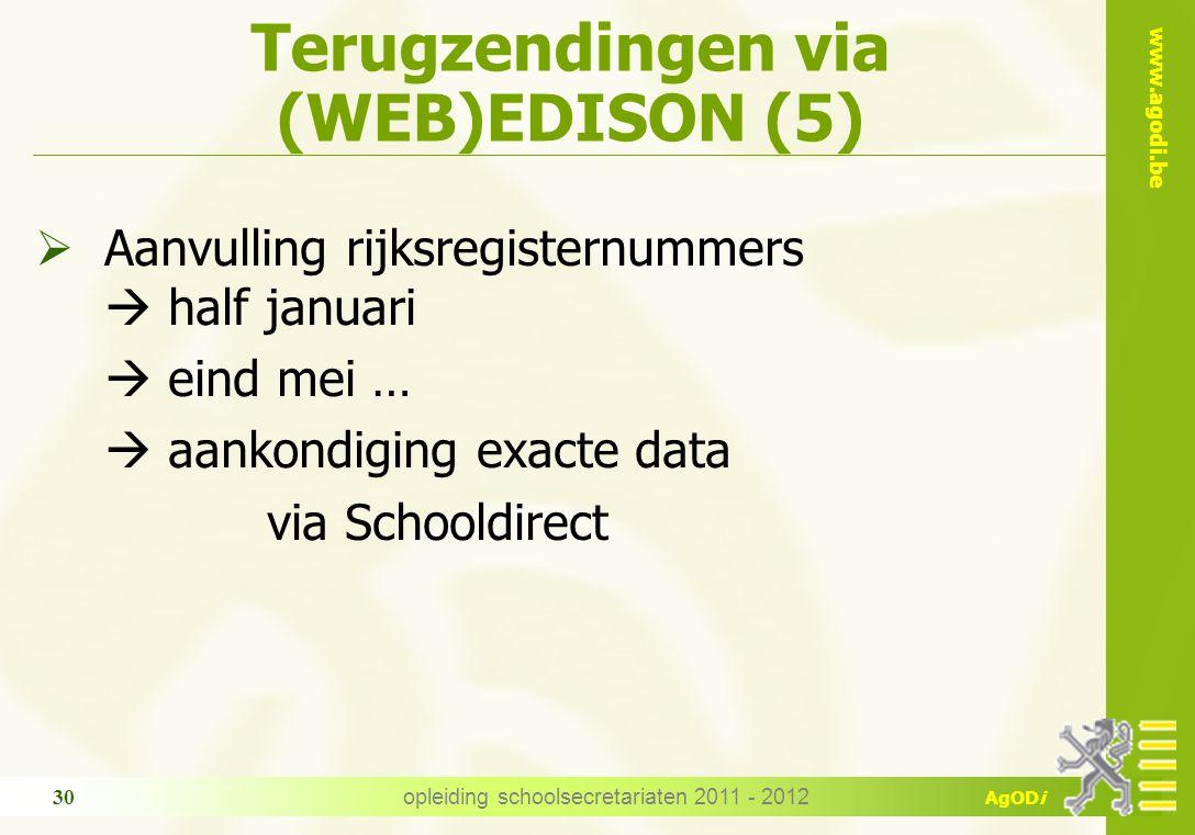 Terugzendingen via (WEB)EDISON (5)