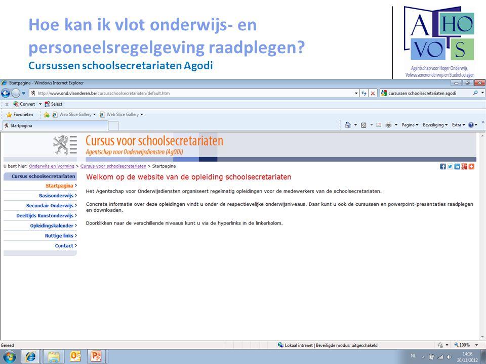 Afdeling Volwassenenonderwijs