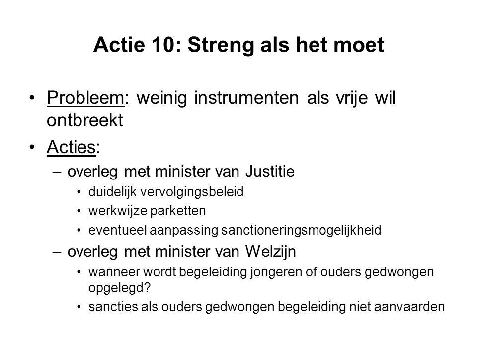 Actie 10: Streng als het moet