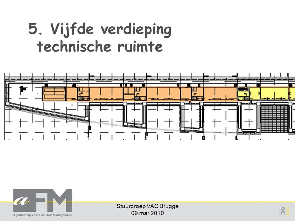 5. Vijfde verdieping technische ruimte
