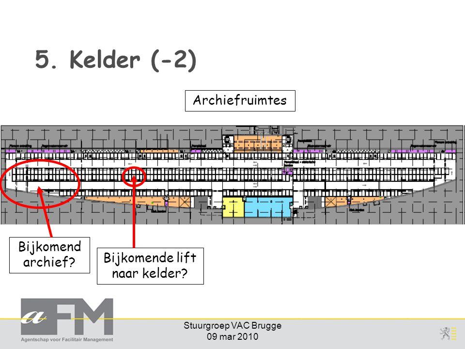 5. Kelder (-2) Archiefruimtes Bijkomend archief
