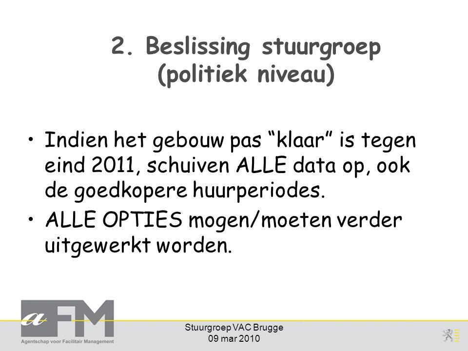 2. Beslissing stuurgroep (politiek niveau)