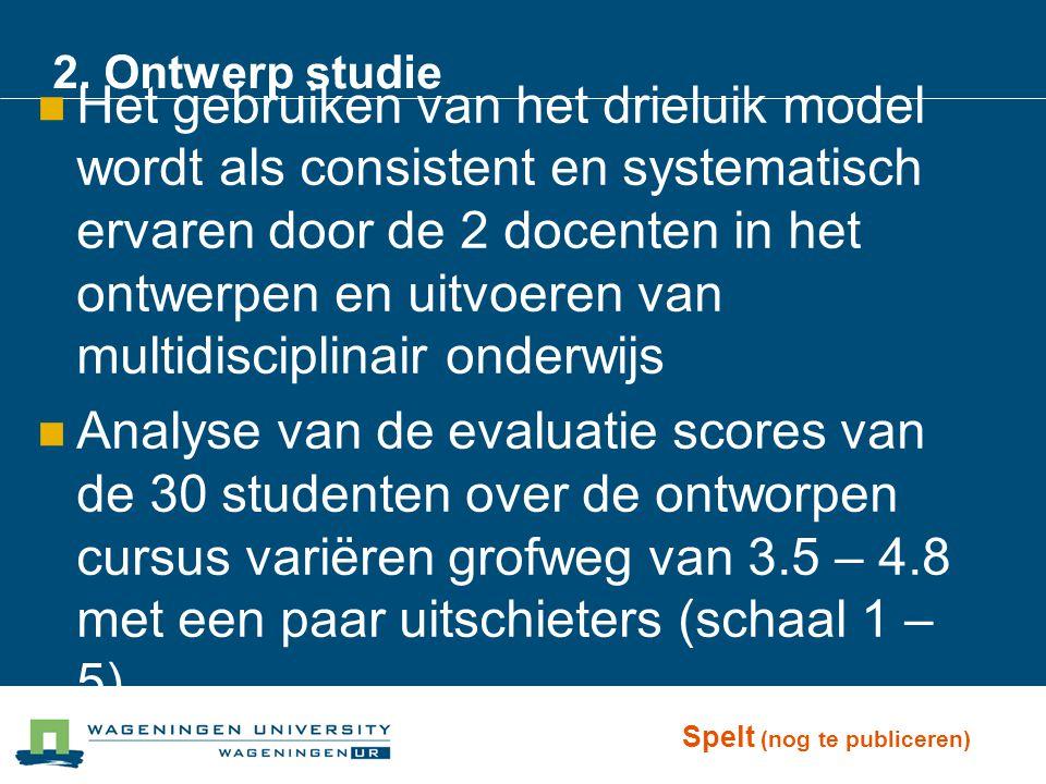 2. Ontwerp studie