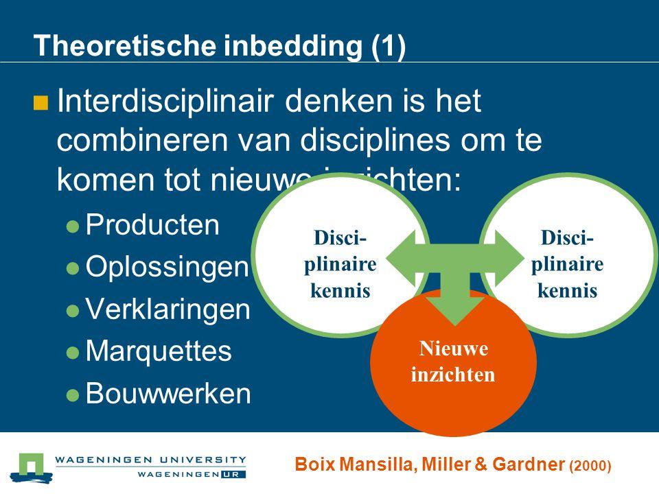 Theoretische inbedding (1)