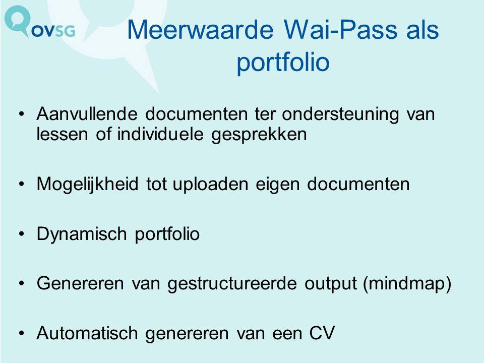 Meerwaarde Wai-Pass als portfolio