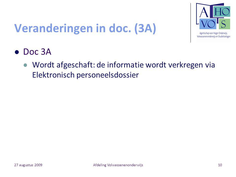 Veranderingen in doc. (3A)