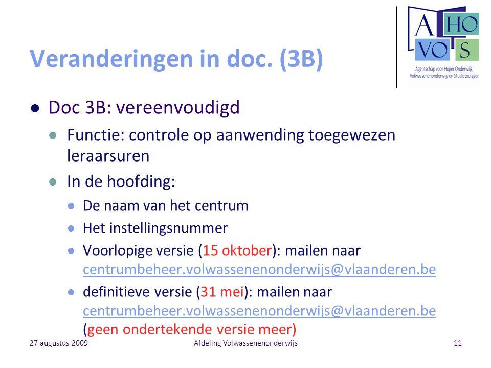 Veranderingen in doc. (3B)