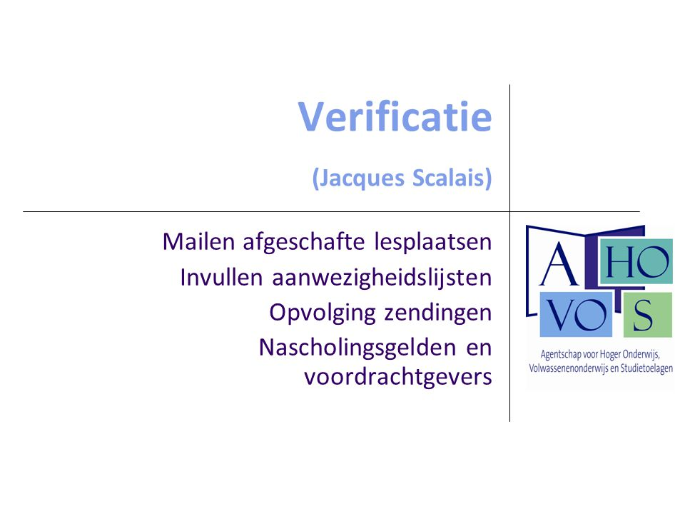 Verificatie (Jacques Scalais)