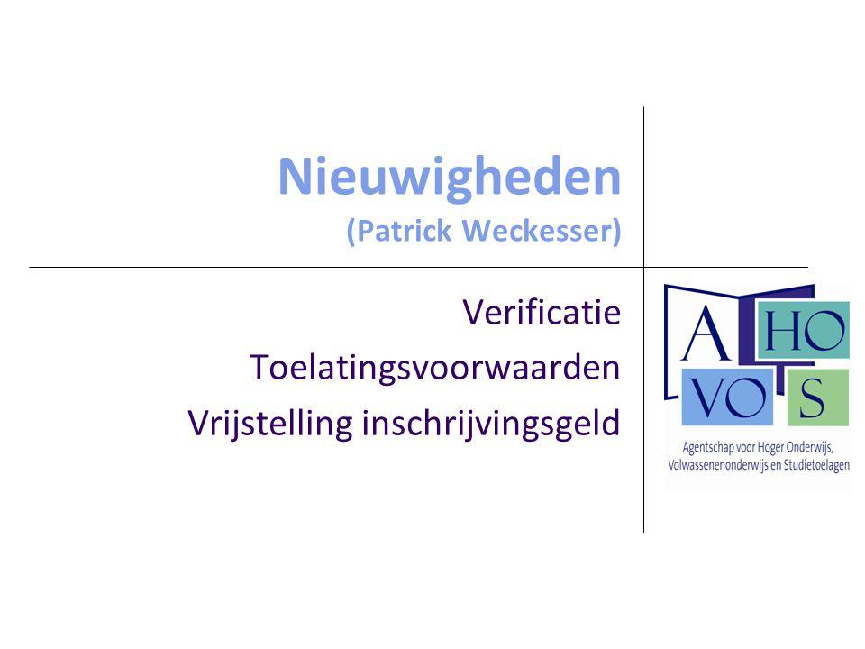 Nieuwigheden (Patrick Weckesser)