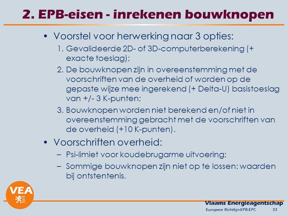 2. EPB-eisen - inrekenen bouwknopen