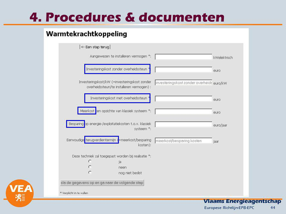 4. Procedures & documenten