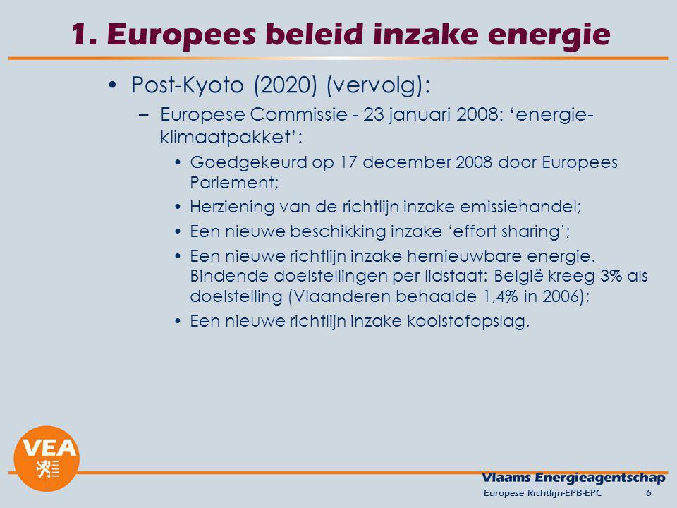1. Europees beleid inzake energie