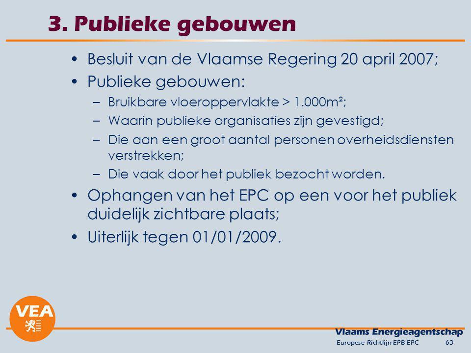 3. Publieke gebouwen Besluit van de Vlaamse Regering 20 april 2007;