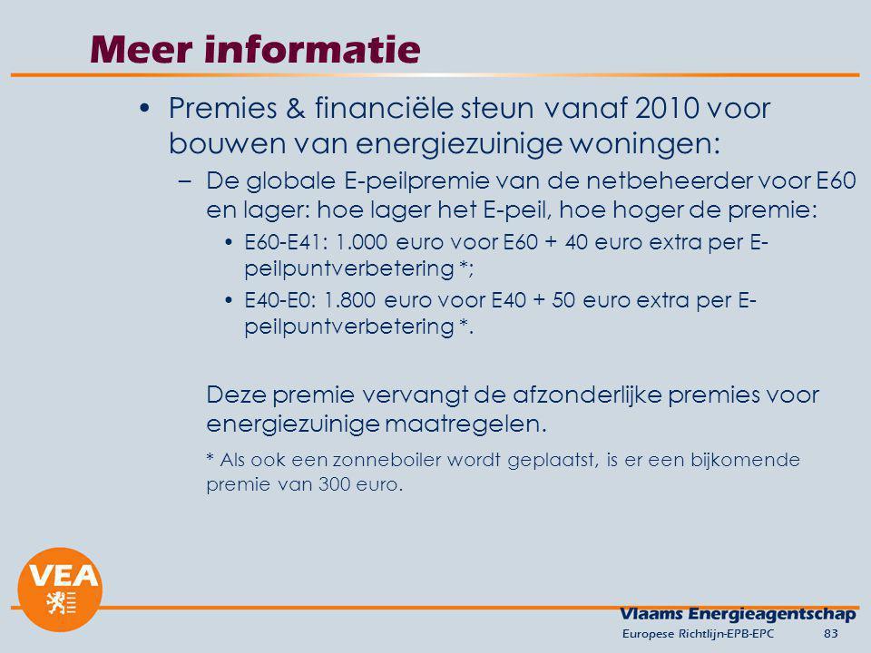 versie april 2010 Meer informatie. Premies & financiële steun vanaf 2010 voor bouwen van energiezuinige woningen: