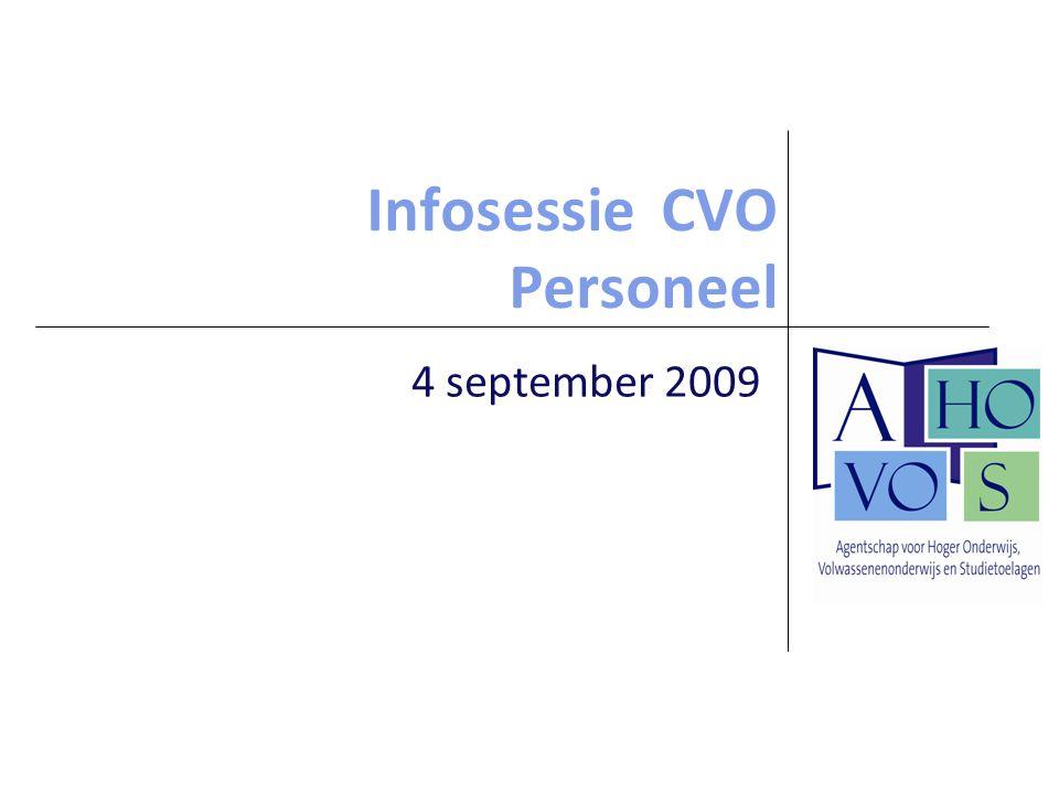 Infosessie CVO Personeel